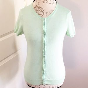 J.Crew Mint Green Cardigan Small